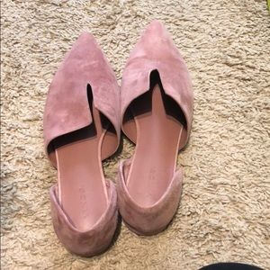 Worn once, pink suede Vince flats